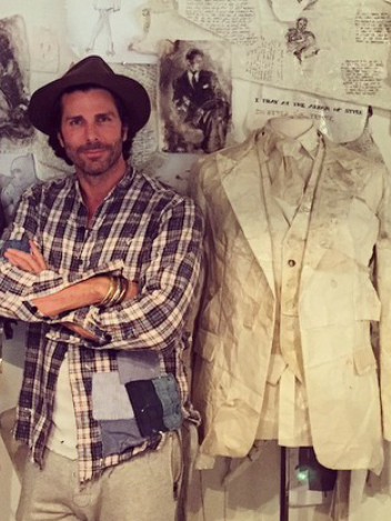 Greg Lauren Greg Plaid studio sht