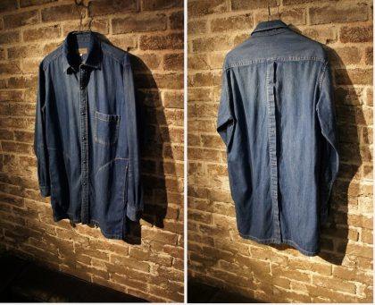 Yohji long denim shirt blouson