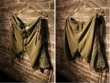 ARMY FLEECE TENT GL1 SLIM FIT SHORTーWorld exclusive for SOUTERRAIN-detail