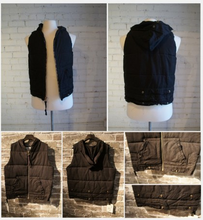 GREG LAUREN - BLACK PUFFY TENT VEST